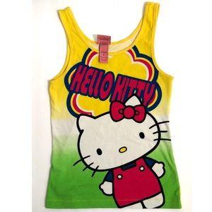 Hello Kitty By Sanrio Women Yellow Tank Top Size M